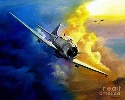 Sbd Dauntless Art Print by Stephen Roberson