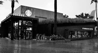 Photograph - Starbucks Store Downtown Disney Work One by David Lee Thompson