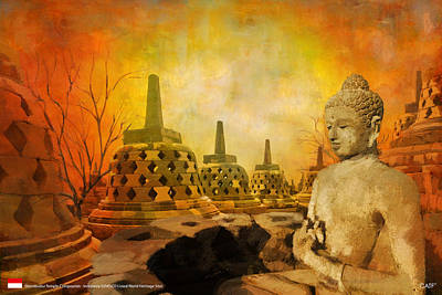 Residential Painting - Sborobudur Temple Compounds by Catf