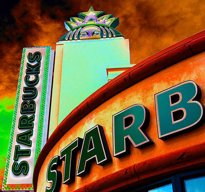 Photograph - Peekaboo Starbucks by David Lee Thompson