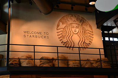 Photograph - Starbucks Display D.t. Disney by David Lee Thompson