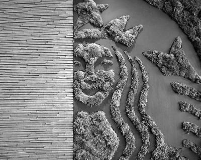 Photograph - Starbucks Mermaid Bw Work One by David Lee Thompson