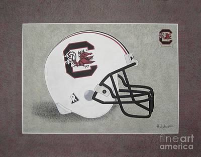 S.c. Gamecocks T-shirt Art Print by Herb Strobino