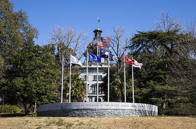 Photograph - Sc Veterans Monument by Charles Hite