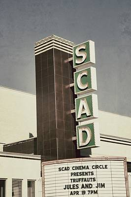 Scad Theater Art Print by Brandon Addis
