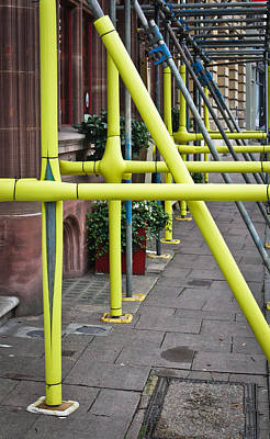 Scaffolding Coating Art Print by Tom Gowanlock