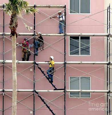 Photograph - Scaffolding by Tom Brickhouse