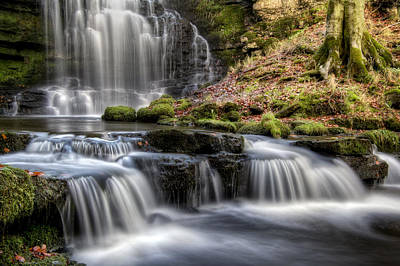 Knaresborough Photograph - Scaleber Force Falls by Chris Frost