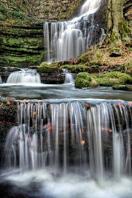 Knaresborough Photograph - Scaleber Force Steps by Chris Frost
