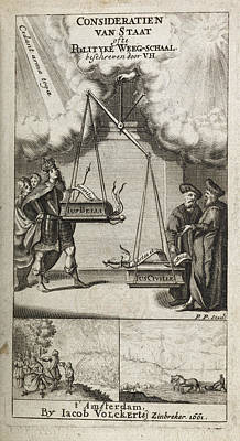 Court House Photograph - Scales Of Justice And Politics by British Library