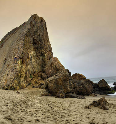 Point Dume Wall Art - Photograph - Scaling Cliffs by Ricky Barnard
