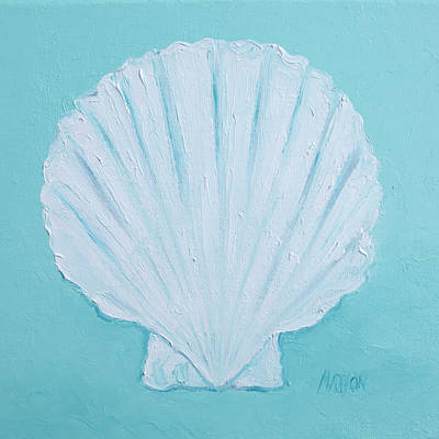 Scallop Shell Art Print by Jan Matson