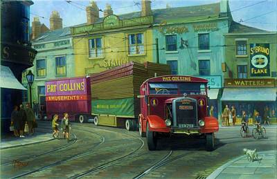 Streetscenes Painting - Scammell Showtrac by Mike  Jeffries