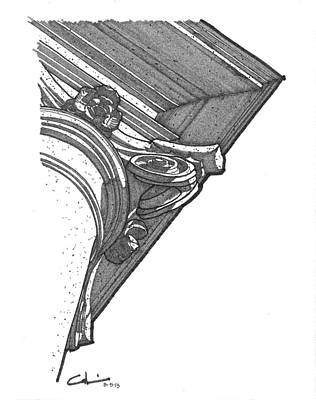Drawing - Scamozzi Column Capital by Calvin Durham