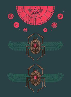 Toro Digital Art - Scarabs by Hector Mansilla
