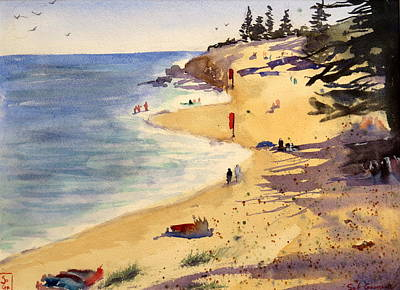 Painting - Scarborough Beach by Sof Georgiou