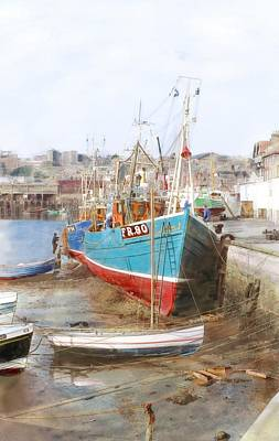 Scarborough Harbour Art Print