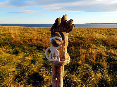 Landscape Photograph - Scarecrow At Ferryland by Zinvolle Art