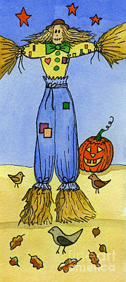 Scarecrow Art Print by Norma Appleton