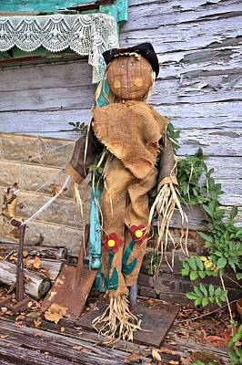 Photograph - Scarecrow On The Porch by Gordon Elwell