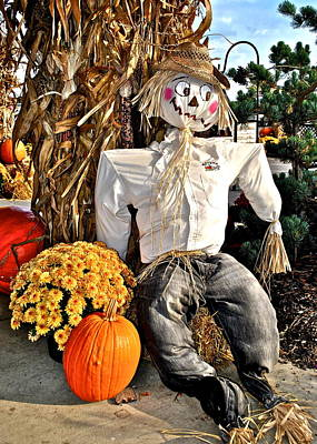 Photograph - Scarecrow by Frozen in Time Fine Art Photography