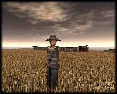 Scarecrow Art Print by Susanne Baumann