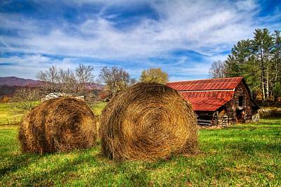Tennessee Hay Bales Photograph - Scarecrow's Dream by Debra and Dave Vanderlaan