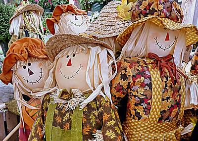 Farmstand Photograph - Scarecrows by Janice Drew