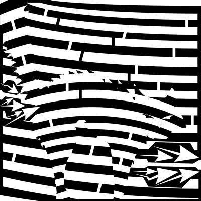 Digital Art - Scared Kitty Maze by Yonatan Frimer Maze Artist