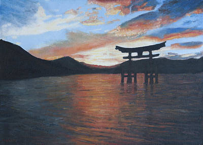 Painting - Scared Sunset by Masami Iida