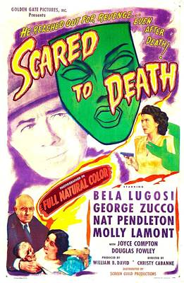 Scared To Death, Us Poster, Middle Art Print