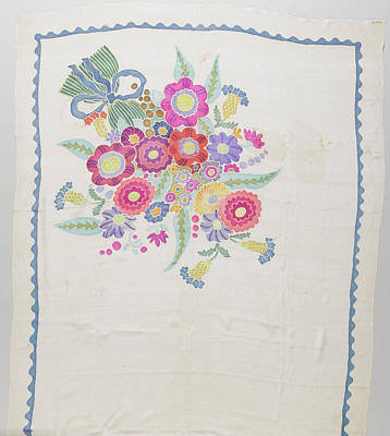 Scarf Crepe De Chine With A White Ground Art Print