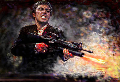 Scarface Art Print by Viola El