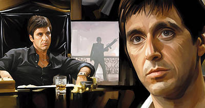 Movie Art Mixed Media - Scarface Artwork 1 by Sheraz A