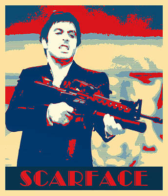 Scarface Mixed Media - Scarface by Dominic Piperata