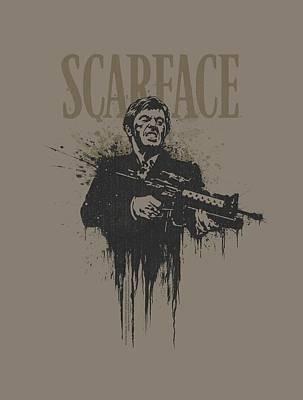 Friend Digital Art - Scarface - Grimace by Brand A