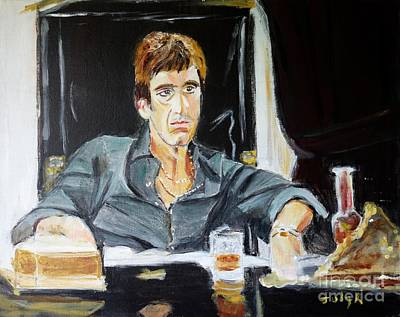 Famous People Painting - Scarface by Judy Kay