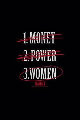 Montana Digital Art - Scarface - Money Power Women by Brand A