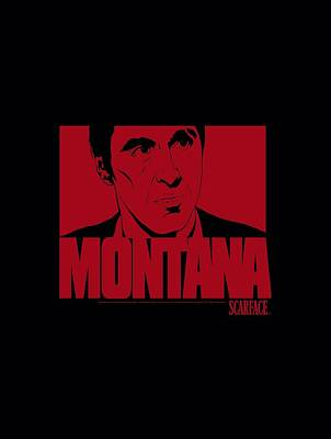Montana Digital Art - Scarface - Montana Face by Brand A