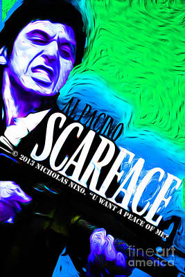 Scarface Mixed Media - Scarface by Never Say Never