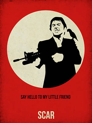 Scarface Poster Art Print by Naxart Studio