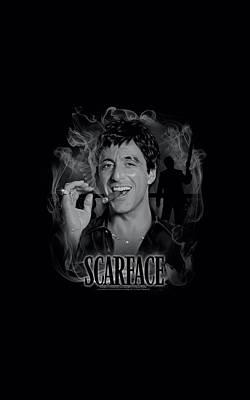 Friend Digital Art - Scarface - Smokey Scar by Brand A