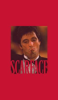 Montana Digital Art - Scarface - Smoking Cigar by Brand A