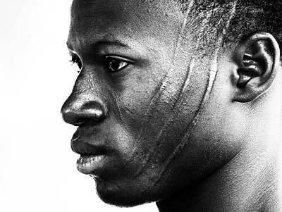 Tribal Photograph - Scarified Man At A Beninese Village (1 Of 2) by Elena Molina