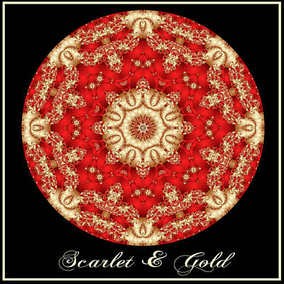 Digital Art - Scarlet And Gold by Charmaine Zoe