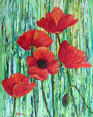 Painting - Scarlet Blooms by Susan DeLain