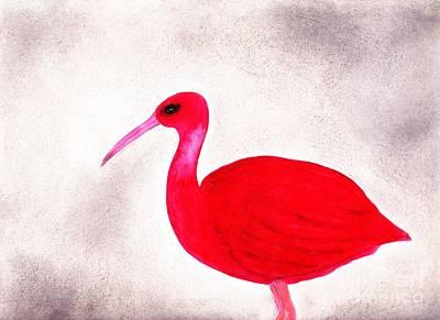 Ibis Mixed Media - Scarlet Ibis by Julio Haro
