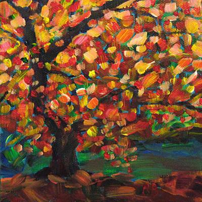 Scarlet Japanese Maple Art Print by Robie Benve