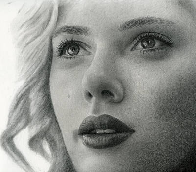 Drawing - Scarlet Johansson by Erin Mathis