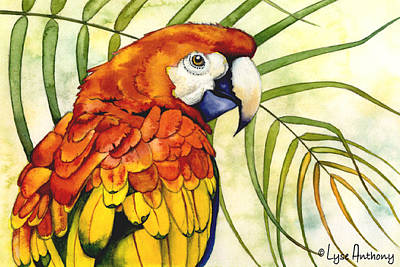 Macaw Painting - Scarlet by Lyse Anthony